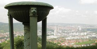 View of Stuttgart from the Sepulchral Chapel on Württemberg Hill