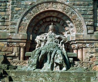 Kaiser Barbarossa, Kyffhäuser-Denkmal bei Steintalleben; Foto: Landesmedienzentrum Baden-Württemberg, Urheber unbekannt