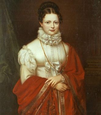 Königin Katharina von Württemberg - Gemälde um 1816 von Stirnbrand; Foto: Landesmedienzentrum Baden-Württemberg, Dieter Jäger