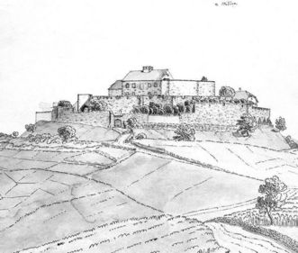 Pencil drawing of the Württemberg ancestral castle, by August Seyffer, 1819, 1840. Image: Landesmedienzentrum Baden-Württemberg, Robert Bothner