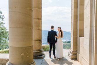 Hochzeitsfoto vor der Grabkapelle