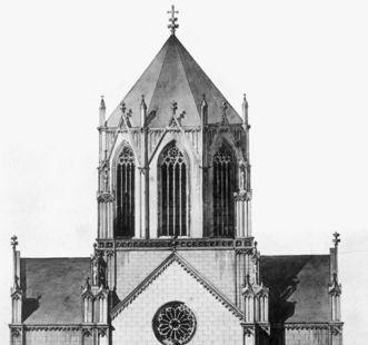 Neo-Gothic style design by J. Thürmer. Scan: Landesmedienzentrum Baden-Württemberg